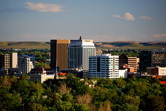 Downtown Boise Spring Evening (Talo66) Tags: city trees urban buildings landscapes spring scenery downtown day cityscape scenic idaho boise views pwpartlycloudy