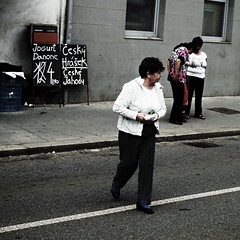Cejl Street Scene 3 (Kojotisko) Tags: street city people streets person czech streetphotography brno cc creativecommons czechrepublic streetphoto persons ghetto praktica cejl fujifilmfinepix fujifilmfinepixsl1000 fujifilmfinepixsl1000kojotisko