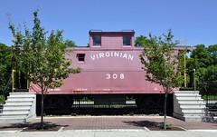Princeton, West Virginia (Bob McGilvray Jr.) Tags: railroad train display tracks caboose westvirginia princeton virginian vgn
