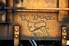 EASTCOAST WALKER, NBD. (NTHESTREETS) Tags: graffiti florida trains freights ecw nbd monikers benched eastcoastwalker nthestreets