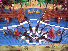 Lego Castle 05-14 Sea Beast (Dursaflare) Tags: castle water bed bedroom king lego princess lion prince medieval queen knights diningroom tables huge ghosts portal walls witches archery skeletons yeti bats throne dungeons genie sorceress wizards waterwell legocastle pianoorgan blueking lioncrest legocastle0514