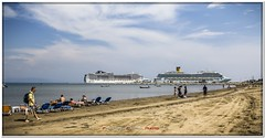 Spiaggia di Katakolon - Katakolon Beach (Francesco Castro) Tags: costa grecia spiaggia crociera magica olimpia katakolon francescocastro crocieracostamagica