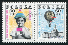 Poland 0107 m (roook76) Tags: old travel people vintage fly ancient child message basket lift mail air balloon flight postoffice free hobby retro stamp card transportation envelope letter airship gondola postal aged 1968 float address postage travelers soar postmark philately philatelic