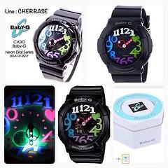 "Pre order USA ( 25 วัน )  G-SHOCK Women's BGA-131 Baby-G Watch  ราคาบ้านเรา 5,xxx  ราคาเพียง 3,999 บาท ส่งศูนย์ในไทยได้ นับประกันโดย Brand 2 ปีค่ะ  Features Shock resistant; UV-led ""neon illuminator"" black light World time; 4 daily alarms + 1 snooze Stopw"