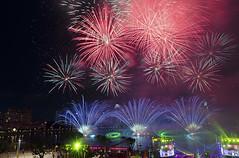 Laser & Fireworks (LFC25) Tags: singapore fireworks stadium joy celebration laser sportshub