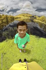 My Little Hero | Infra Red Photography (AnNamir c[_]) Tags: nikon fisheye malaysia infrared getty daniell masjid d90 kualakubu infraredphotography samyang rifae jemme annamir annamirphotography nikond90infrared prayformh370b jemmey