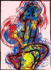 Danseuse (ludovicbecker) Tags: sexy colors girl dance chica panty dancer skirt dessin illustrator movimento draw fille plaisir joie bailarina mouvement happyness falda  danseuse  jupette insouciance      ludovicbecker