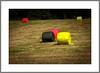 Weiltmeisterschaftsfieber... (World Cup Fever ...) (alfred.hausberger) Tags: rot gold bad felder weltmeisterschaft schwarz fusball strohballen griesbach updatecollection