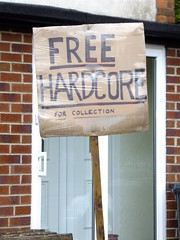 Free Hardcore (stevenbrandist) Tags: house sign concrete leicestershire free cardboard homemade hardcore loughborough rubble charnwood freehardcore collectiononly