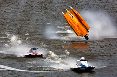 Bay City River Roar - Milo Degugas crashes in boat 83 (Craig - S) Tags: race boat midwest downtown michigan f1 racing formulaone f2 formula1 powerboat baycity saginawriver hydroplane formula2 powerboatracing riverroar riverracing baycityriverroar milodegugas maierandassociates primebrothers
