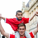Fans de foot - Lausanne - Coupe du Monde 2014 - Après le match Suisse - Equateur thumbnail