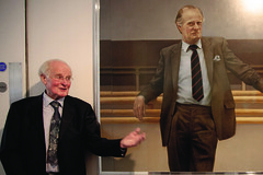 Newly restored portrait of John Tooley unveiled at the Royal Opera House