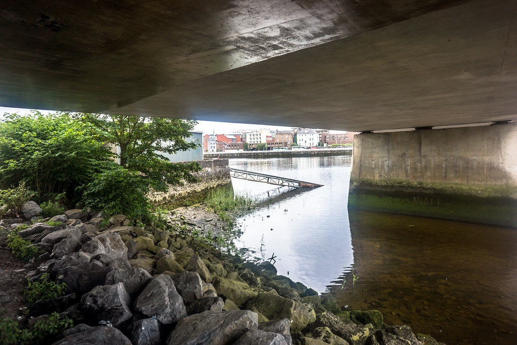 IMAGES FROM THE STREETS OF LIMERICK - UNDER THE SHANNON BRIDGE