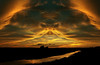 Nightwings (Tau Zero) Tags: sunset vampire dracula vampirebat redscale digitalmirror