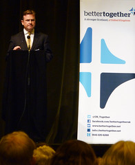 Iain Martin at Michael Forsyth Better Together event in Stirling, July 2014 (Scottish Political Archive) Tags: scotland martin no stirling event referendum forsyth bettertogether alberthalls 2014referendum