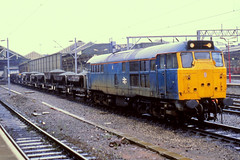 31101 Crewe 14/9/1989 (Glevumblues) Tags: diesel trains crewe locomotive railways class31 31101