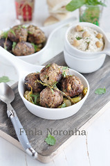 Meat ball with broad beans (Finla Noronha) Tags: cooking dinner lunch meat lamb meatballs broadbeans foodblog middleeasterncooking recipefromjerusalembookfromottolenghi mykitchentreasureses