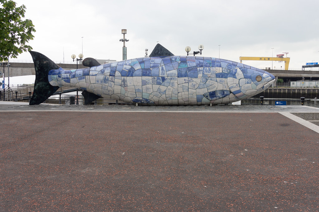 THE BIG FISH NEAR THE LAGAN WEIR IN BELFAST