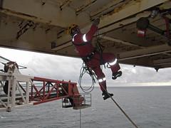 Aid Climbing Offshore (Craig Hannah) Tags: uk work scotland crane offshore gas climbing northsea oil aidclimbing ropeaccess ropeaccesstechniques ropeaccessphotos craighannah