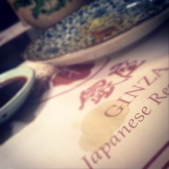 #ginza #giapanese #restaurant #usa2014 (Nicola since 1972) Tags: square squareformat unknown iphoneography instagramapp uploaded:by=instagram