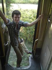 Pas de fermeture automatique des portires... (Robinson Voyages) Tags: train balkans juillet hsh et albanie 2013