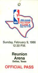February 9, 1986, 36th Annual NBA All-Star Game, Reunion Arena, Dallas, Texas - Official Pass (Joe Merchant) Tags: game reunion dallas official texas pass 9 arena annual february 1986 nba allstar 36th