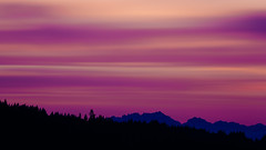 Time's Running Out (John Westrock) Tags: longexposure trees sunset sky motion mountains clouds canon evening colorful purple porch pacificnorthwest washingtonstate pnw olympicmountainrange canonef100400mmf4556lisusm bwnd1000x canoneos5dmarkiii