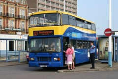 736 - M736 BBP (Solenteer) Tags: volvo portsmouth olympian 736 eastlancs solentblueline eastlancashire m736bbp solentshuttle