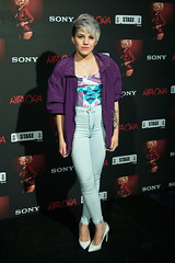 Angy en el photocall del concierto de Rita Ora en Madrid
