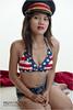 Ready to Salute... (shallowend) Tags: portrait sexy hat female asian nikon patriotic bikini denim shorts slinky speedlight shortshorts octa lastolite d700 sb900 ezybox