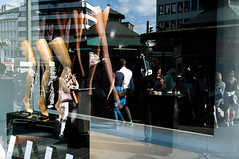 Untitled (Bruno.T71) Tags: street people sun sunlight color reflection mannequin window legs dsseldorf duesseldorf