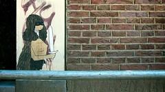 (pnwbot) Tags: streetart art girl amsterdam graffiti sword warrior kidacne pnwbot