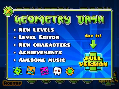 Geometry Dash Game Unlock: screenshots, UI