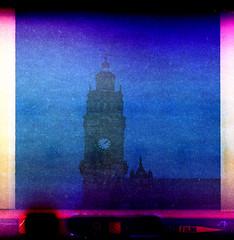 Town Hall Clock (pho-Tony) Tags: wind kodak 400 automatic motor clockwork expired kodacolor instamatic 126 cartridge c41 motordrive kodar tetenal kodarlens kodakinstamatic400