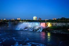 Niagara Falls - 190 (www.bazpics.com) Tags: bridge light usa newyork ontario canada color colour fall nature water night river landscape flow niagarafalls boat waterfall rainbow scenery ship natural drop tourists niagara falls american