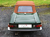 01 Triumph TR6 Verdeckbezug mit EINER Scheibe und Reißverschluss von CK-Cabrio Sonderfarbe Mahagoni-Kupfer 01
