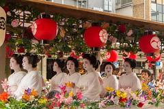 Hanagasa Junk Parade at the Gion Matsuri, 2014 in Kyoto. (KyotoDreamTrips) Tags: japan kyoto maiko geisha  gionmatsuri     atomatsuri hanagasajunk