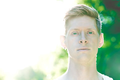 Emerald (DavidCallMusic) Tags: portrait musician green eye artist bokeh 85mm emerald