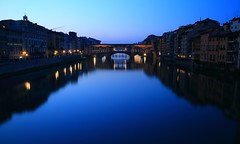 Bleary Blue ~ Ponte Vecchio @ Firenze  () ~ (PS~~) Tags: old city travel bridge italy holiday reflection art monument museum architecture river hall florence scenery europe pretty artist italia gallery cityscape monumento capital religion earlymorning courtyard medieval tourists romance unesco ponte campanile tuscany florencia firenze bluehour piazza uffizi arno toscana michelangelo viewpoint fiore toscane palazzo turismo renaissance historia galleria oldcity magichour cultural sculptor carrara pontevecchio vecchio florentine oldpalace  signoria oldbridge  renacentista patrimoniodelahumanidad emperador romancing   castillero emiliodefabris catedraldeflorencia    binoculaur