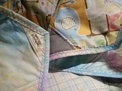 Hexie baby quilt