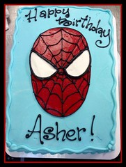 Spiderman Cake by Jennifer, Triad, NC, www.birthdaycakes4free.com