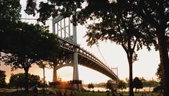 Triborough Bridge (mlee525) Tags: new york nyc bridge sunset newyork queens skatepark astoria astoriapark iphone triboroughbridge rfkbridge robertfkennedybridge