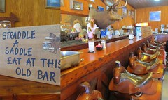 Bar stools Texas style (The Old Texan) Tags: stools bar saddles eat cafe texas bandera