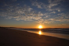 Sunrise @ Cronulla Beach (missgeok) Tags: sunrise sydney cronullabeach australia morning sun sky cloudy clouds bluesky refections lighting composition beautiful firstlight day colours