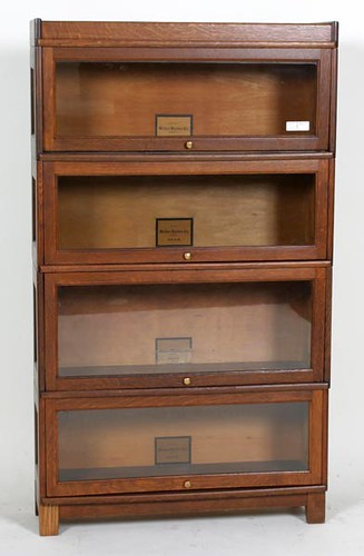 Globe and Melton-Rhodes 4 Stack Oak Bookcase ($532.00)