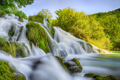 San Korana Waterfalls (PokemonaDeChroma) Tags: nd1000 leebigstopper canoneos6d lens ef24105mmf3556isstm ndfilter neutraldensity longexposure watefalls sankorana croatia silky smooth moss rocks trees nature shade sunlight july summer 2016 korana likasenj grass