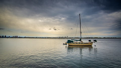 Calm Before the Storm (danielledufour430) Tags: boat ship sailboat bay clouds storm ocean sea water sandiego california sandiegobay landscape seascape sonya6000