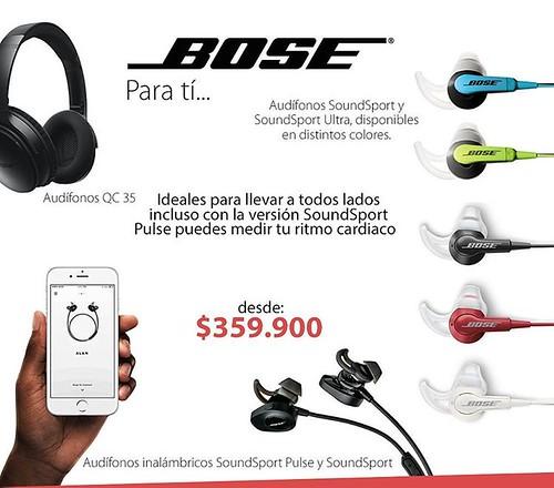 Encuentra en @compudemano toda la variedad de audífonos Bose que estabas buscando, encuentra los tuyos desde $359.900 #cadadiamejor. Visita nuestra tienda o llámanos Bogotá: (1) 381 9922 - Medellín: (4) 204 0707 - Cali (2) 891 2999 - Barranquilla: (5) 316