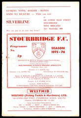 STOURBRIDGE v TELFORD UNITED (1975-76) SLP (bullfield) Tags: stourbridge worcestershire westmidlands glass telfordunited wellington shropshire amblecote