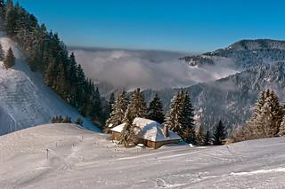 Swiss winter paradise, Paradis hivérnale suisse ,  Les Alpes Vaudoises  . Canton of Vaud.Fix You  No. 6035.